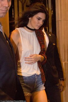 Kendall Jenner opts for grunge glamour in thigh high boots after Givenchy show in Paris | Daily Mail Online