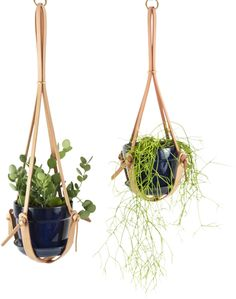 Knotted Leather Hanging Plant Holder Click to shop  #affiliate