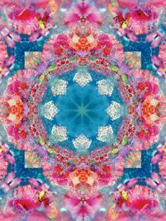 Mandala Oriental Blossom I, ©Alaya Gadeh Find more flower mandalas at: https://www.facebook.com/landofpoetry