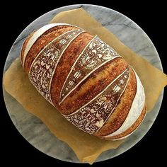 Is this bread or art? We're loving the popularity of sourdough baking these days. Not only can you avoid Savoury Baking, Bread Baking, Bread Art, Baking Utensils, Bread And Pastries, Fresh Bread, Sourdough Bread, Artisan Bread, Bread Rolls