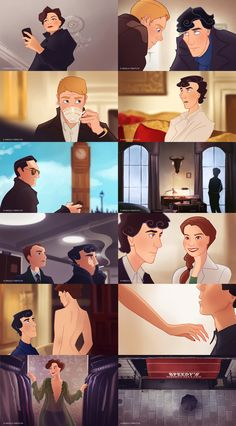 Sherlock : Animated Series by ~Angela-T on deviantART // I love how the artist made Sherlock look at John like Molly was looking at him. Sigh... Love.