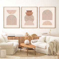 Home Decor Sets, Home Wall Decor, Room Decor, Orange Wall Art, Southwestern Decorating, Modern Boho, My New Room, Wall Art Sets, Modern Wall Art
