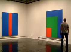 Ellsworth Kelly: Red Green Blue at the Whitney Museum with Red Blue (1963) left and Red Green Blue (1964)