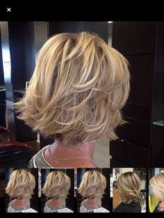 This Pin was discovered by Pau - Hair styles - Hair Length Short Hair With Layers, Short Hair Cuts, Bob With Layers, Layered Short Hair, Medium Length Layered Bob, Short Stacked Bobs, Layered Bobs, Medium Cut, Long Bobs