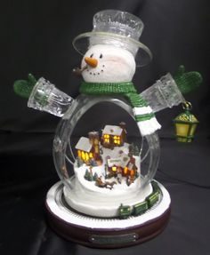 """""""Irish You A Merry Christmas"""" Lighted Crystal Snowman Animated Train Collection"""