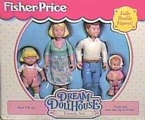 we bought this family to live in the doll house. played with them for years til their body parts started breaking off and we were too old for them anyway... Good times. :)