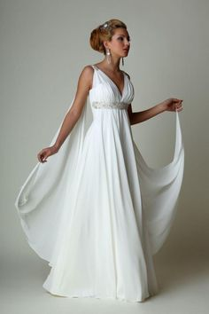 Greek Goddess Style Wedding Dresses Confetti Wedding dress and