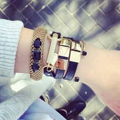 We  this cuff and wrap bracelet pairing by @michalbenami designs // shop her jewels that Lauren and Sue brought home from Isreal