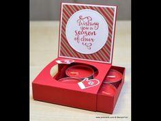 No.229 - Perfumed Tealights' Gift Box -JanB UK Stampin' Up! Demonstrator Independent - YouTube