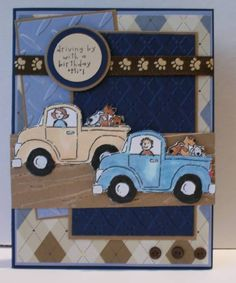 """Truck Card. """"Loads of Love"""" stampin up set"""