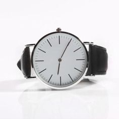 Minimal Watch - Black Leather