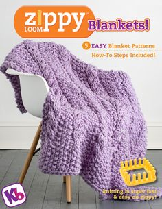 Zippy Loom Blankets ebook - http://www.knittingboard.com/ More