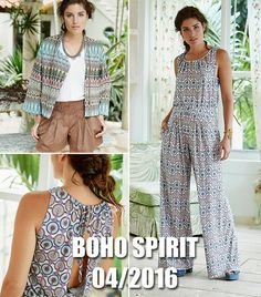 This pattern bundle contains all 12 patterns from the Boho Spirit collection. You'll save AND get the convenience of one easy download. This new collection from the April 2016 issue of BurdaStyle magazine includes 12 bohemian style sewing patterns for women.
