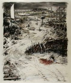 View Construction yard by William Kentridge on artnet. Browse upcoming and past auction lots by William Kentridge. Landscape Drawings, Abstract Landscape, Art Drawings, Contemporary Landscape, Contemporary Artists, Etching Prints, South African Artists, Sketchbook Inspiration, Gravure