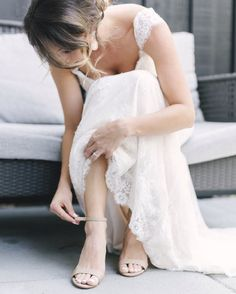 great vancouver wedding Getting ready shots are a great way to show a complete story of a wedding day, even if it's just for a few minutes! Shot with @amyteixeira #wedding #gettingready #weddingshoes #weddingdress by @itswilsonlau  #vancouverwedding #vancouverweddingdress #vancouverwedding
