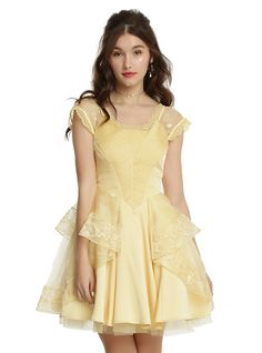 Disney Beauty And The Beast Belle Ball Gown, YELLOW