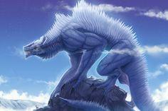 fantasy hybrids creature | clouds monsters stars fantasy art godzilla anime green tea Space Stars ...
