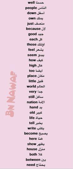 English Language Course, English Language Learners, English Vocabulary, English Grammar, Teaching English, English Talk, Learn English Words, English Lessons, Arabic Phrases