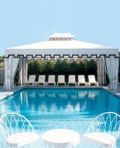 Dear Summer, Please take us to this lovely pool and cabana. We've been hard workers all year and could use a break. Hopefully with you and a cold drink. xoxo, Regale