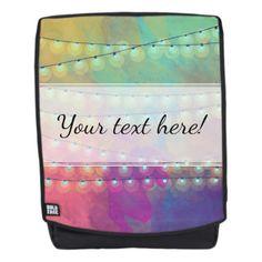 Vivid Watercolor & Bunting Fairy Lights Backpack