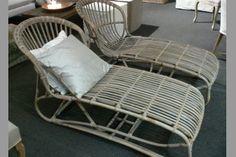 Rattan ligstoel voor binnen en voor buiten