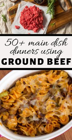 from meatloaves to casseroles, from tacos to spaghertti - here are over 50 delicious recipes that use ground beef as the main ingredient!  #groundbeefrecipes #hamburgermeatrecipes #easydinnerrecipes #3boysandadog Easy Dinner Recipes, Delicious Recipes, Yummy Food, Beef Appetizers, Ground Beef Recipes Easy, Hamburger Meat Recipes, Casseroles, Stew, Entrees