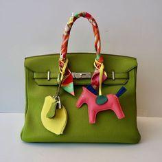 HERMÉS BIRKIN BAG 35 VERT ANISTOGO PALLADIUM HARDWARE Fendi, Gucci, Hermes Birkin, Celine, Dior, Charms, Louis Vuitton, Couture, Luxury Handbags