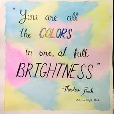 Beautiful lettering from bandpotato #allthebrightplaces