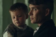 Tommy Shelby and son Charlie in Series 4 PB. Cillian Murphy.