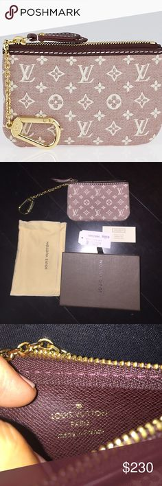 *FINAL* NWT LOUIS VUITTON Monogram Canvas KeyChain NWT LOUIS VUITTON Sepia Monogram Idylle Canvas Pochette Cles Key and Change Holder.                                                          ✨NEVER USED or removed from original packaging besides for these photos. Comes with original box, dustbag and tags to prove its 100% authenticity.✨                                           Will be your new favorite accessory! It is made to attach to the D-rings of bags & keep your keys and change…