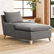 Bliss Down-Filled Chaise  2 of these side by side in the fireplace room...what do you think Em?