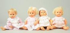 Palitoy Four Vintage Teeny Tiny Tears Dolls, 1960S   Vectis Toy Auctions