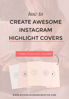 Want to know how to create stunning Instagram Highlight Covers? Over on the blog I'm sharing exactly how you can design custom covers for your own Instagram Story highlights. Too busy to create your own? Download my 5 pack of covers FOR FREE! #instagramtips #instagrammarketing Marketing Topics, Social Media Marketing, Business Marketing, Content Marketing, Instagram Life, Instagram Story, Instagram Ideas, How To Get Followers, Instagram Marketing Tips