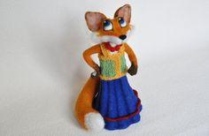 Needle felted fox Lisa Patrikeevna by HelenDream on Etsy
