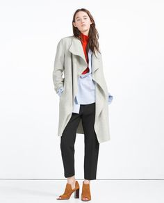 67be856d Image 1 of HAND MADE COAT from Zara Zara Women, Waterfall Coat, Zara  Official