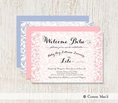 Baby Shower Invitation  French Influence  Bebe  by customaed, $15.00