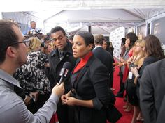 Janet on the red carpet at the For Colored Girls Premiere