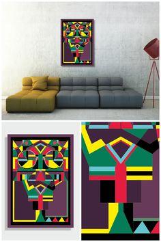 Aztec Wall Décor, Aztec Tribal Print Art Home Décor Aztec, Tribal Wall Art Print, Aztec Tribal Art Printable, Digital Download, Mexican Home Décor, Decoracion de Hogar, Decoração de casa
