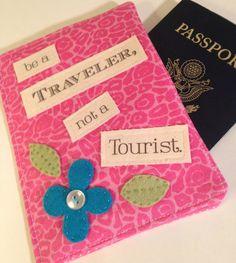 Travel Wallet Passport Wallet Passport by destinationhandmade, $24.99