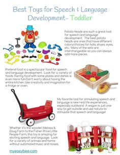 Best Toys for Speech and Language Development- Toddler Speech Language Pathology, Speech And Language, Toddler Language Development, Pretend Food, Best Speeches, Kids Board, Human Services, Work From Home Moms, Working Moms