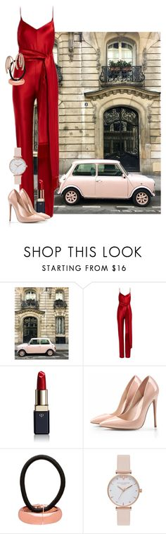 """Sidewalks"" by jennu721 ❤ liked on Polyvore featuring Galvan, Clé de Peau Beauté, L. Erickson, Olivia Burton, Bea Bongiasca, paris, jumpsuits, parisfashionweek and Packandgo"