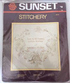 Sunset Stitchery Anniversary Keepsake Embroidery Kit New In Package #SunsetStitchery