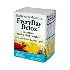 Traditional Medicinals Everyday Detox Herbal Tea Description: Promotes Healthy Liver Function Made with Organic Dandelion Root All Natural 16 Wrapped Tea Bags Traditional Medicinals have reformulated