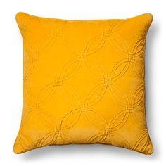 Oversized Circle Texture Throw Pillow - Yellow – Threshold™