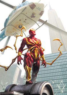 Cualquiera que haya leído el arco de Civil War recordará con cariño el traje de mecánico de Spiderman, elaborado a medida por el mismísimo Tony Stark, lógicamente inspirado en los colores de la armadura de Iron Man. Su primera aparición fue para el número de Amazing Spiderman #529, serie que corría de forma pa