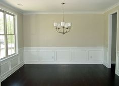 Molding In Dining Room With Dark Hardwood Floors