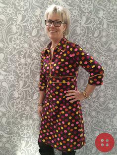 Line2Line nr K248 med gule tittekanter og gul lynlås - Manchetdelen vil være at finde på KreStoffer.dk, som gratis download (under vores mønstre) senere i januar. Da manchetterne er inspirerende tilbehør, er de naturligvis ikke at finde på selve hovedmønstret. Wrap Dress, Dresses With Sleeves, Patterns, Long Sleeve, Fashion, Block Prints, Moda, Full Sleeves, Fashion Styles