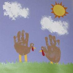 2 turkey handprints