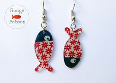 Boucles d'oreilles Poisson de Rouge Poisson sur DaWanda.com