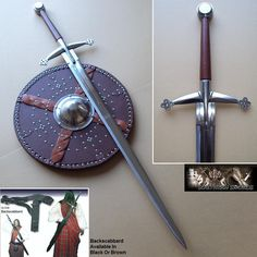 A reproduction claymore sword.